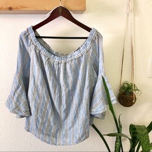 Lucky Brand blue striped top
